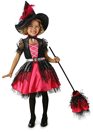 Pink Sparkle Witch Costumes (Barbie Witch Costume Dress)