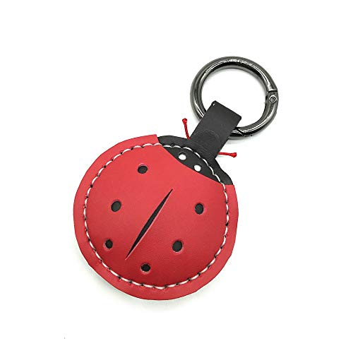 Ring Ladybug Keychain Key - Owlowla Keychain Leather Bag Charm Bows Pineapple Dog Designs Women Handbag Wallet Key Rings-ladybug