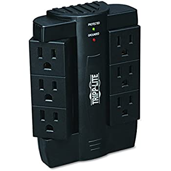 Tripp Lite 6 Rotatable Outlet Surge Protector/Suppressor, Wall Mount Direct Plug-in, & $20K INSURANCE (SWIVEL6)