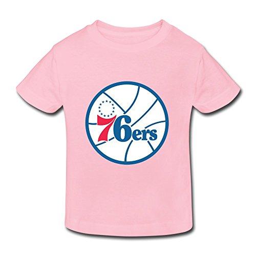 Pink Ambom Philadelphia 76ers Little Boys Girls 100% Cotton T Shirt For Toddler Size 2 Toddler (Party City Richardson)