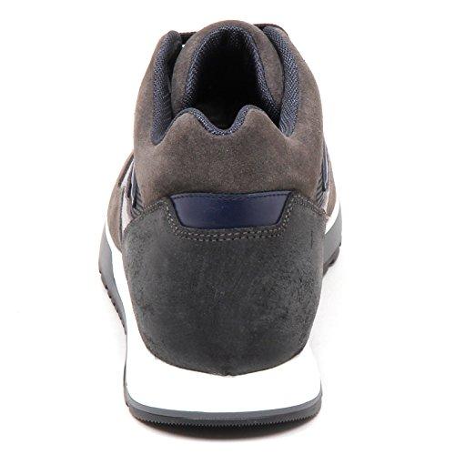 Hogan E5032 Sneaker Uomo Blu/Grigio H321 Scarpe H 3D Tissue/Suede Shoe Man Grigio/Blu