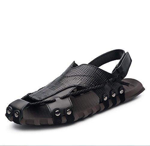 Noir Sports D'été Respirant Cuir Vietnam Plein Sandales Nouvelles Hommeszhangm Hommes Plage En Pour De Air Chaussures Liangxie D'hommes nCXwYqTOBx