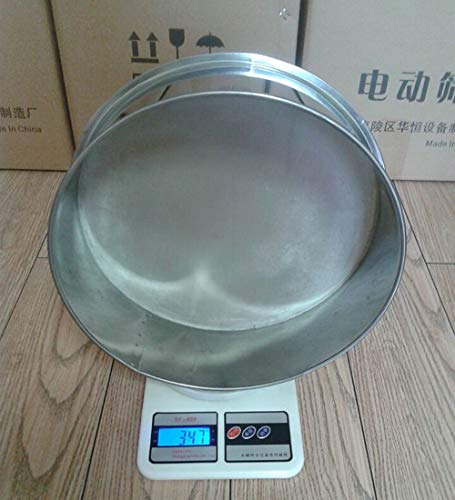 TOPCHANCES Professional Round Stainless Steel Flour Sieve for Food Industrial Stainless Steel Automatic Vibrating Sieve Machine (6cm, 300 Mesh)