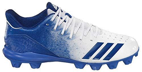 - adidas Men's Icon 4 Splash MD Baseball Cleats (7, White/Blue)