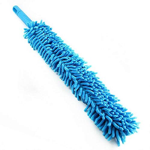 Car Wash Brush Flexible 16 inch Long Superfine Fiber Alloy Wheel Cleaner Blue MTSZZF