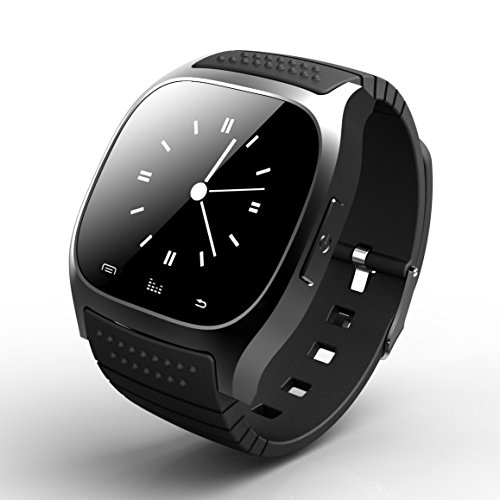 XoomBot® Bluetooth Smartwatch Fitness Band Call Notification & Texting, Sleep Monitor Anti-Loss Device MTK2501 for Apple IOS & Android Smart Phone Black