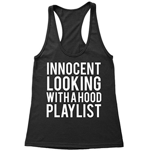 innocent-looking-with-a-hood-playlist-racerback-tank-top-tumblr-tank-top