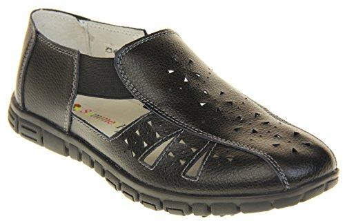 Large Cuir Coolers Sandales Noir Montage Summer By Studio Eee Chaussures Fruits Footwear Femme w4v8Iq
