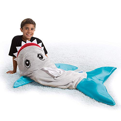 Snuggie Tails SHARK- Tails Comfy Cozy Super Soft Blanket for Kids, As Seen on TV -