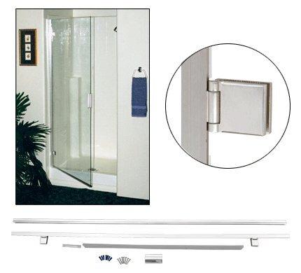 Cheap Crl Chrome Square Corner Light Duty Frameless Shower Door And
