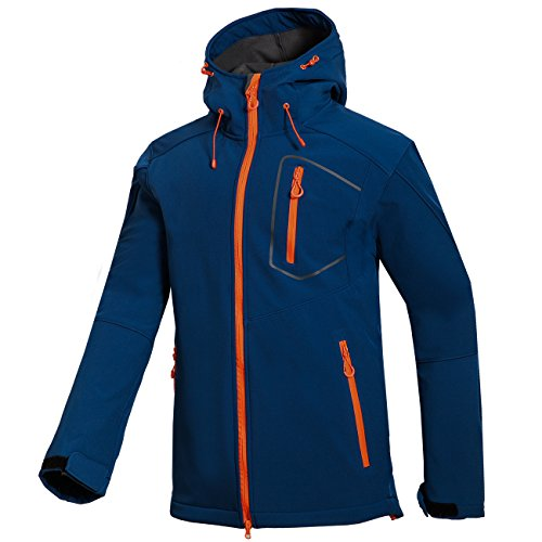 Jacket Dark Coat Cashmere DYF FYM Ski Windproof Men's Blue Long Hat Sleeve S JACKETS Thickened qS47X