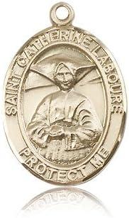 14ktゴールドSt。Catherine Laboure medal
