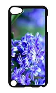 Ipod 5 Case,MOKSHOP Adorable Purple Hyacinth Hard Case Protective Shell Cell Phone Cover For Ipod 5 - PC Black