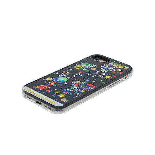iPhone 6 Plus Custodia, Bling Glitter ultra sottile / Case iPhone 6s Plus Copertura / Shock Dust Resistant Shell iPhone 6 Plus Cover 5.5 & tappi antipolvere / fiore Nero 1