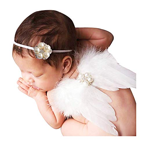 Newborn Angel Wings - HUIXIANG Baby Girl Photography Props Feather