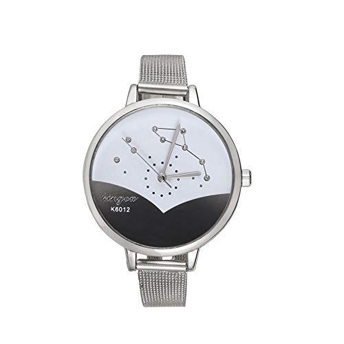Correa de Malla de Moda Reloj de Las Mujeres Reloj patrón Elegante señoras Reloj de Pulsera