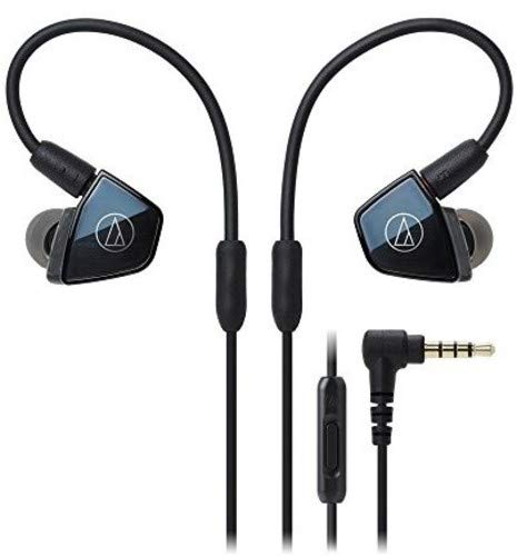 Audio-Technica ATH-LS400iS In-Ear Quad Armature Driver Headphones with In-Line Mic Control
