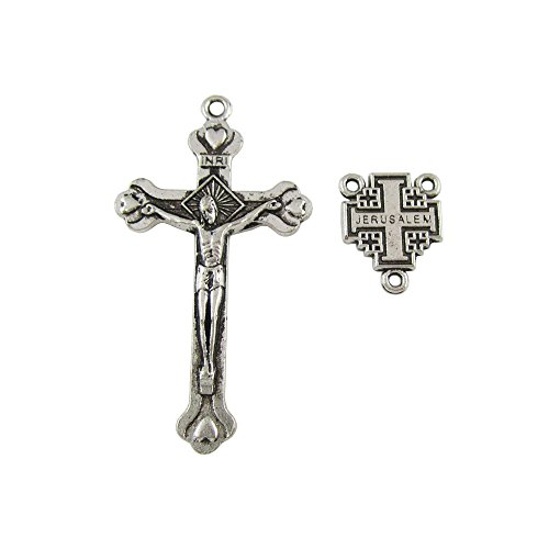 100 Sets of Alloy Jerusalem Crucifix Cross Centerpiece for Olive Wood Rosary