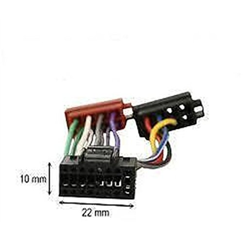ISO wiring harness car stereo radio connector adapter cable loom Kenwood 16 pins: