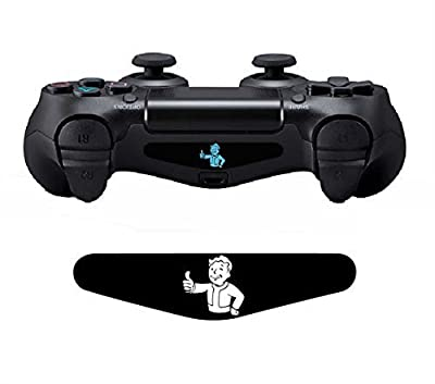 CloudSmart PS4 Controller Fallout 4 Light Bar Decals Stickers Qty 2 PS4 Logo - Fallout 4 Vault Boy from CloudSmart