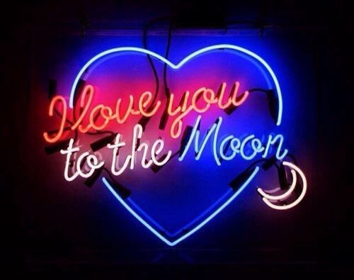 Urby™ 19''x15'' I Love You To The Moon Custom Handmade Glass Tube Neon Light Sign 3-Year Warranty-Unique Artwork! UB37 by Urby
