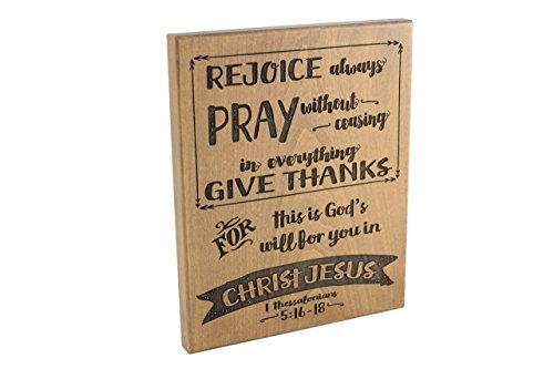 Wood Sign/ Fall Art/ Bible Verse Art on Wood/ Christian Gift/ Scripture Art/ Christian Sign/ Encouragement/ Rejoice/ Pray/ Give Thanks/ 1 Thessalonians 5:16-18