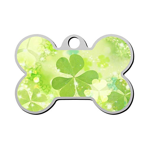 - GPZHM Customized Clovers Pet Tag - Bone Shaped Dog Tag & Cat Tags Pet ID Tag Personalized Custom Your Pet's Name & Number 3D Printing