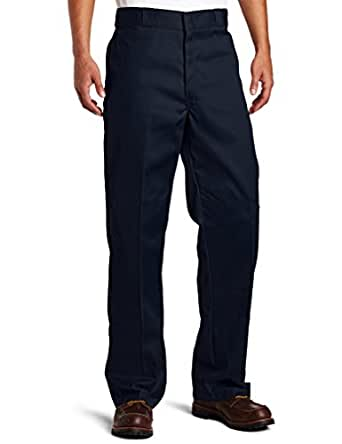 Dickies Mens Loose Fit Double Knee Work Pant, Dark Navy, 28x30