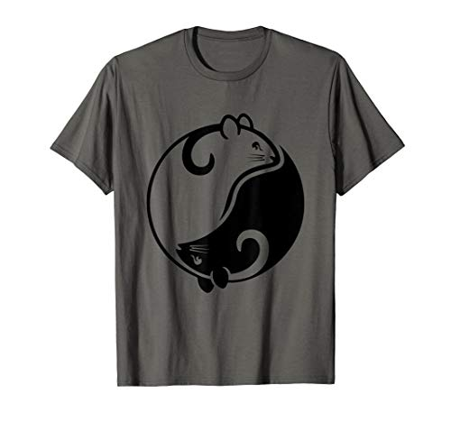 Yin Yang Year Of The Rat Happy Chinese New Year 2020 T-Shirt (Rat New Year Chinese)