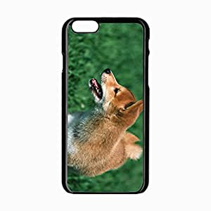iPhone 6 Black Hardshell Case 4.7inch puppy dog tongue Desin Images Protector Back Cover