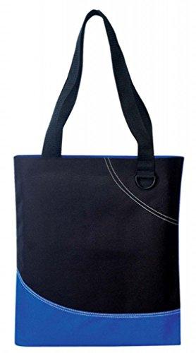 DDI 1902381 Poly Tote Bag - Royal-Black by DDI