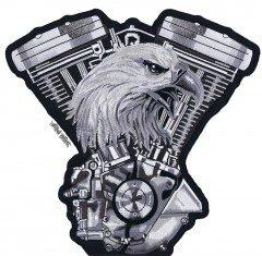 Grand format 24 x 25 cm Patch /écusson Aigle Vtwin pour blouson veste et gilet biker
