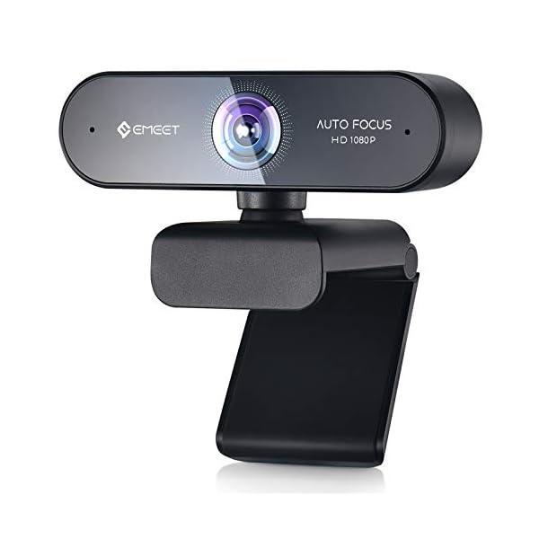 Webcam with Microphone  Autofocus Webcam Nova 96 View Portable Webcam 1080P w2 De Noise Mics Plug play
