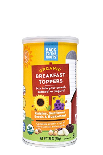 Back to the Roots Organic Breakfast Toppers/Raisins/Sunflower Seeds and Buckwheat, 7.58 oz (Prime Pantry Yogurt compare prices)