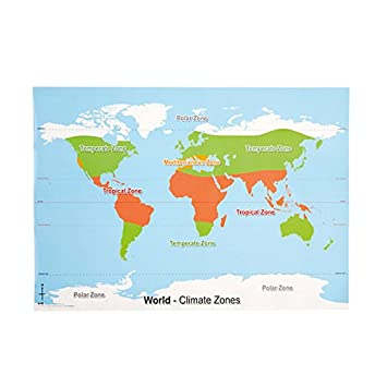 World climate zone map amazon office products world climate zone map gumiabroncs Image collections