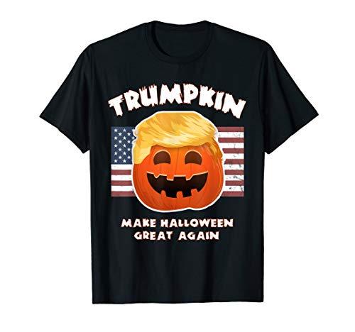 TRUMPKIN Funny Trump Pumpkin Pie Pun: USA Liberals Halloween T-Shirt