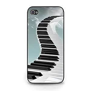 Iphone 5c Cell phone Case,Creative Fashion Design Musical Instruments Piano Keys Phone Case Cover for Iphone 5c Piano Special