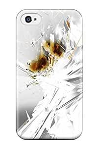Iphone 4/4s Hard Back With Bumper Silicone Gel Tpu Case Cover Fractals Abstract