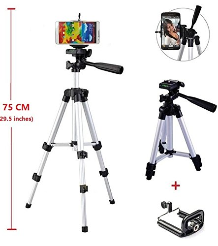Aluminum Camera Tripod with Phone Bracket Mount Holder for Samsung Galaxy Note 5,Note 4,Note 3,Note 2,Note 1,S6 S5