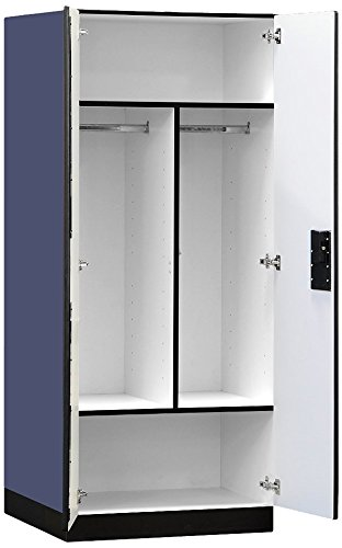 Salsbury Industries Designer Wood Storage Cabinet Wardrobe, 76-Inch-24-Inch, Blue by Salsbury Industries (Image #1)
