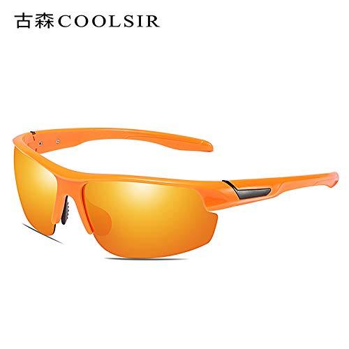 Lumineux nbsp;Soleil Lunettes polarisées Mjia de polariseurs nbsp;Sport frame Orange Sport nbsp; sunglasses pour Lunettes de nbsp;Lunettes Lunettes de Homme x6qRa8x