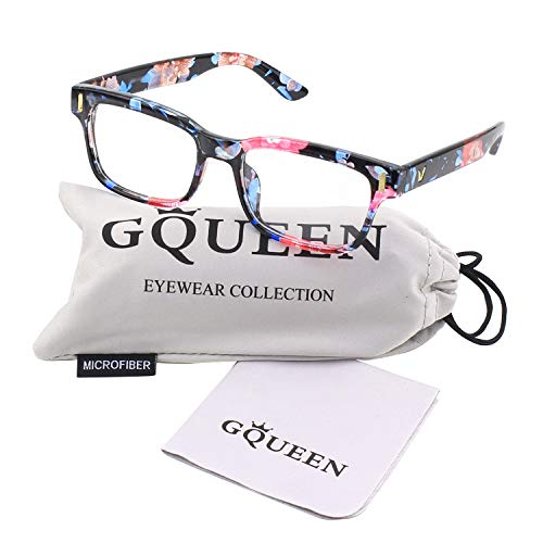 GQUEEN 201584 Modern Fashion Rectangular Bold Thick Frame Clear Lens Eye Glasses,Mixed Color