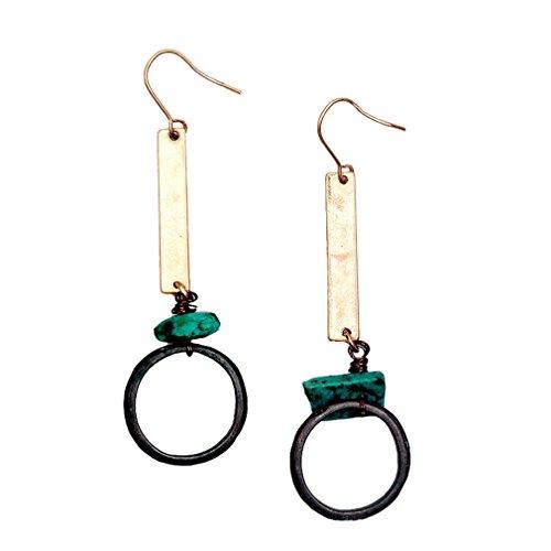 Injoy Jewelry Handmade Vintage Retro Dangle Earring Antique Drop Earrings for Women Girls