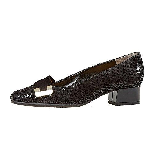Zapatos De Corte De Las Mujeres De Duquesa De Van Dal Chevron Negro Patente