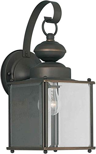 Forte Lighting 1048-01 Outdoor Wall Sconce from the Exterior Lighting Collection, Royal Bronze