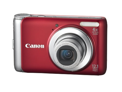 Canon PowerShot A3100IS 12.1 MP Digital Camera with 4x Optical Image Stabilized Zoom and 2.7-Inch LCD (Red)