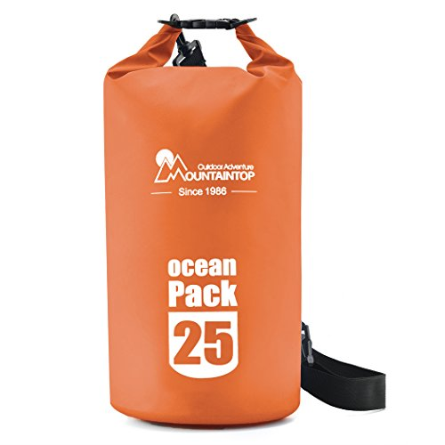 Mountaintop-10L25L-Waterproof-Dry-Bag-Floating-Gear-Bags-for-BoatingKayakingFishingBeachRaftingSwimmingCampingCanoeing-and-Snowboarding-with-2-Shoulder-Straps