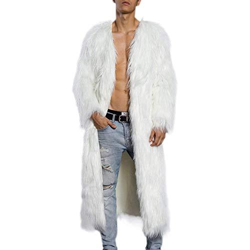 Hombre Streetwear Chaqueta Trench Parka Jacket Invierno Warmth Outwear Blanco Lana Ropa Larga De Abrigo Coat 77x04Ar