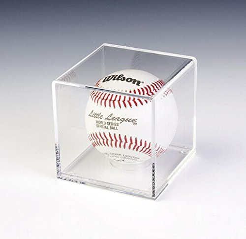 "Fixture Displays 3.375"" Cube Baseball Display Case with Lift-Off Top, Removable Riser, Clear Acrylic 19387 19387"