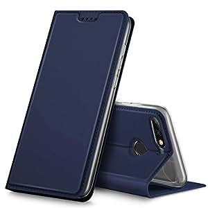KuGi Huawei Honor 9i Case, Premium Flip Case Cover for Huawei Honor 9i, Blue